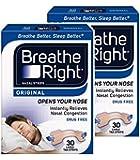 Breathe Right Nasal Strips Natural Large 30 *2 PACKS*