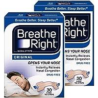 Respirer Droit Nasal Bandes Naturel Large 30 LOT DE 2