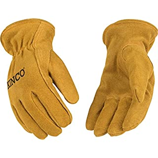 Kinco 50RLY-1 Youth Lined Cowhide Gloves, 8.75