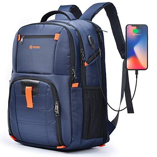 CoolBell 17,3 Zoll Laptop Rucksack wasserdicht Schulrucksack Reise Rucksack/Business Backpack/Schützende Tagestasche für Damen/Herren(Blau) Damen-montage