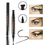 #8: Fancyku Eyeliner Stamp, Waterproof Eye Double Heads Liquid Eyeliner Pen Easy to Makeup Tool Cat Eye Wing Eyeliner Stamps Set