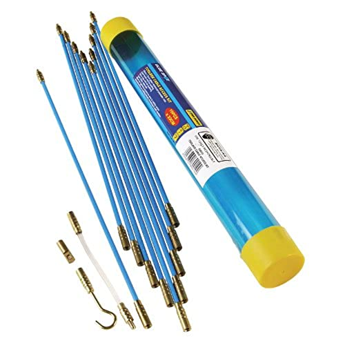 10 X 330m Cable Access Kit Toolbox Electricians Puller Pulling Rods Wires