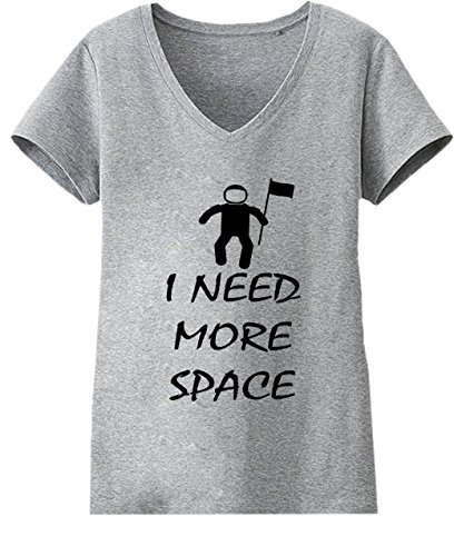 I Need More Space Medium Mujers V-neck T-shirt
