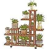 Blumenrahmen/Außenpflanzenstand / 6 Tier-Kiefern-hölzernes Blumen-Gestell/verkohlte Korrosion, die mehrschichtige Leiter-Regal-Topf-Gestell-Stand-Blumen-Stand landet (Farbe : C)