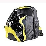 AHNNER Aufbewahrungsrucksack für Motorradfahrer, Wasserdichter Motorradhelm mit großer Kapazität, Outdoor-Radfahren, Reisepaket, Gelb, 48X35 cm