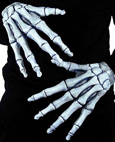 ETON HANDS GHOSTLY BONES GLOVES GRIM REAPER HALLOWEEN COSTUME ACCESSORY ()
