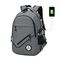 SevenD Laptop Backpack 20L with USB Charging, Suit for School College Bag & Notebook knapsack & Hand Luggage & Briefcase (Gray)
