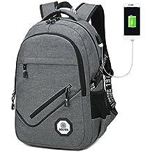 """Business Mochila Para Portátil, Mochilas Escolares Impermeable Anti-robo Casual Rucksack de Carga USB, se Adapta a Hasta 15,6 """" de Ordenadores Portátiles / Notebooks"""