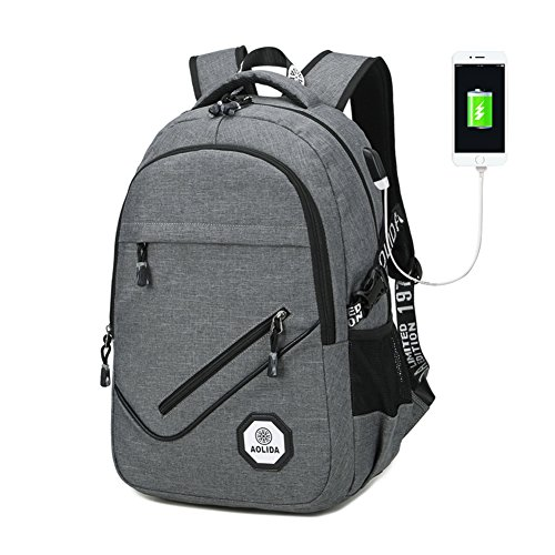 "Business Notebook Backpack, Tear Resistant Backpacks Backpacks Tearproof Occasional Backpacks with USB Port Charging, Fits up to 15.6 ""Notebooks ="" ""Notebooks ="" ""125"