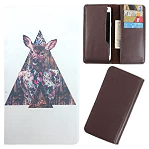 DooDa - For Lava Iris Atom 2 PU Leather Designer Fashionable Fancy Case Cover Pouch With Card & Cash Slots & Smooth Inner Velvet