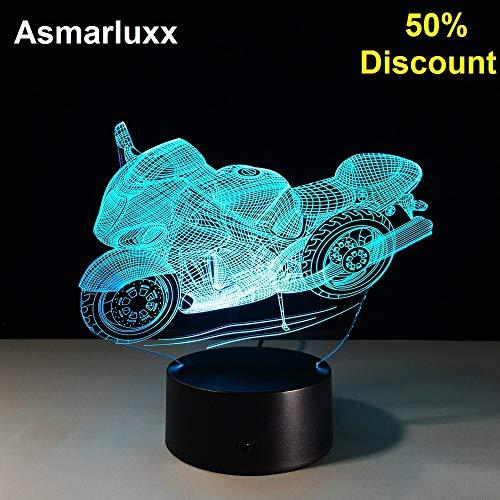 Moto lampada da tavolo decorazione bordo in plexiglass lampada da comodino lampada da notte lampada sconto%