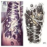 LZC 12x19cm tatuaggi tatuaggio temporanei impermeabile Adulti della spalla braccio grande e reale Decorazione del partito Vacanze Shoulder Tattoos Hombre y Mujer Uomo e donna Nero - Meccanico braccio del robot