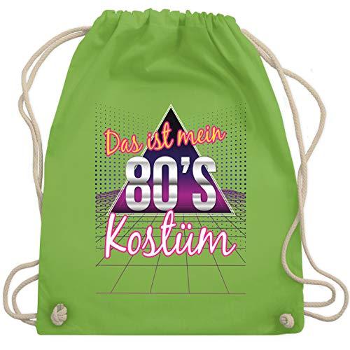 Karneval & Fasching - Das ist mein 80er Jahre Kostüm - Unisize - Hellgrün - WM110 - Turnbeutel & Gym Bag