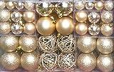 100 Weihnachtskugeln Creme-Champagner changierend glänzend glitzernd matt Christbaumschmuck bis Ø 6 cm Baumschmuck Weihnachten Deko Anhänger