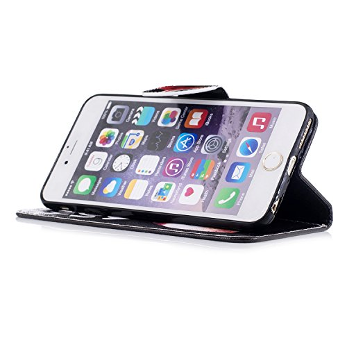 Apple iPhone 6 Plus/6S Plus 5.5 hülle, Voguecase Kunstleder Tasche PU Schutzhülle Tasche Leder Brieftasche Hülle Case Cover (Grüner Teppich 03) + Gratis Universal Eingabestift Katzenbär 08