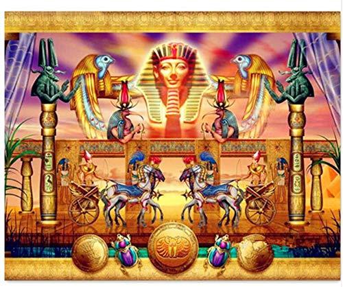 CNLSZM 5d Diamant Stickerei ägyptische Pferde DIY Diamant malerei volle runde mosaik kreuzstich Handwerk Bilder by Zahlen 70x90 cm -