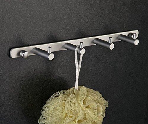 mmhy Aluminium Zeile Platz Bademantel Haken Badezimmer Kleiderhaken massiv Reihen Haken Handtuch Rack Hinter der Tür Kleiderhaken, Bright Your Life (Nautical Bath Handtuch-haken)