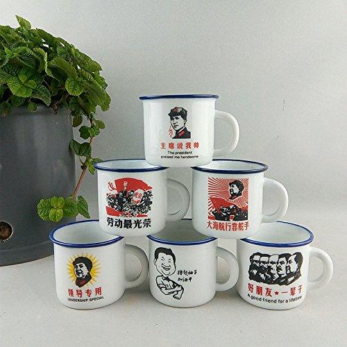 TIANLIANG04 Becher Kaffeetassen Keramik Becher_Tasse Tasse Imitation Emaille Tasse 51-100 Ml
