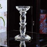 XQY Retro Kerzenhalter Dekoration Kerzenhalter Künstliche Kristall Material Romantische Mode Haushaltsgegenstände Zwei Größen,10.5 * 22.5cm
