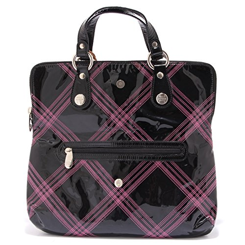 4381S borsa donna HOGAN TREND CLUTCH BAG nero/fuxia a mano hand bag woman nero/fuxia