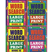 PACK OF 6 - A4 Large Print Wordsearch Book by WF Graham