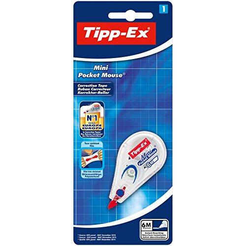 Tipp-Ex 8128704 Mini Pocket Mouse Korrekturroller, Weiß, Band: 6m x 5mm, 1er Pack