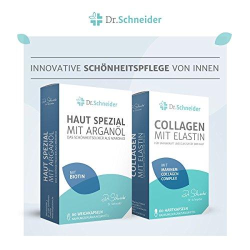 Premium-Beauty-Paket mit Dr. Schneider Collagen mit Elastin für ein schönes, ebenmäßiges Hautbild & Dr. Schneider Haut Spezial mit Arganöl reich an Biotin, Niacin, Vitamin B2 und ß-Carotin -