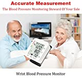 Qawachh Electric Digital Wrist Blood Pressure Monitor Heart Beat Meter Machine(with English Voice)