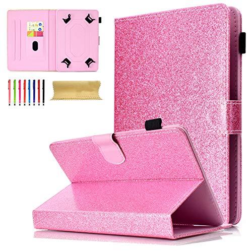 Universal Tablet-Schutzhülle mit Standfunktion für Amazon, Samsung, GoTab, RCA 04 Pink for 9-10 inch Tablet (6 Für Kinder Zoll Tablet Tasche)