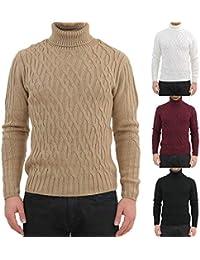 INVERNO UOMO MAGLIA calda dolcevita maglione maglioncino collo alto tinta unita