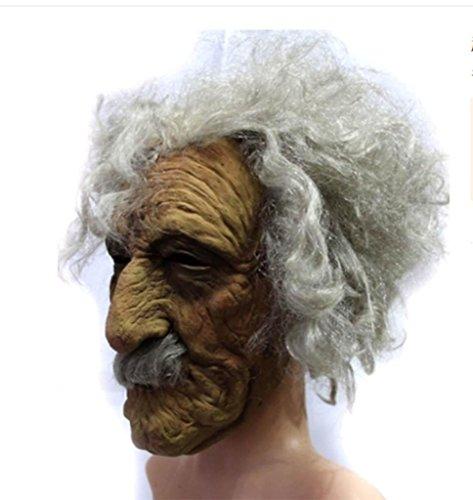 Bar Halloween Grimasse Kopfbedeckung Variation Verdorbenes Fleisch Alte Rinde Locken Zombie Maske ()