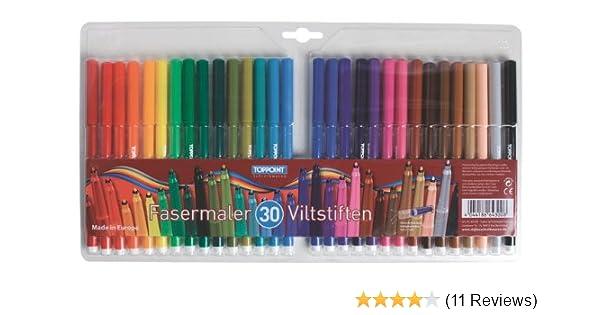 2x 36 36 verschiedene Farben Fasermaler Filstifte 72
