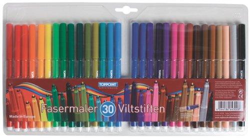 60 (2x 30 Stück) Stylex Fasermaler Filzstifte