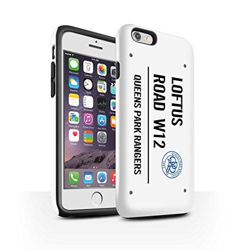 Offiziell Queens Park Rangers FC Hülle / Glanz Harten Stoßfest Case für Apple iPhone 6 / Pack 8pcs Muster / QPR Loftus Road Zeichen Kollektion Weiß/Schwarz