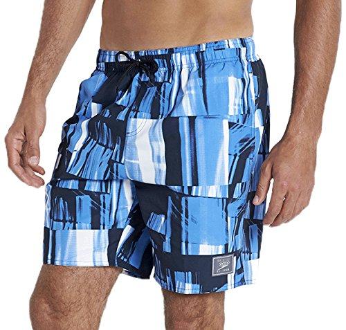 Speedo short de bain pour homme chk prt leis 18 wsht aM Bleu - Bleu marine/bleu