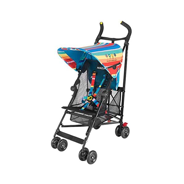 Maclaren Dylan's Candy Bar Volo Stroller - super lightweight, compact Maclaren Basic weight of 3.3kg/7.2lb; ideal for children 6 months and up to 25kg/55lb Maclaren is the only brand to offer a sovereign lifetime warranty Extendable upf 50+ sun canopy and built-in sun visor 7