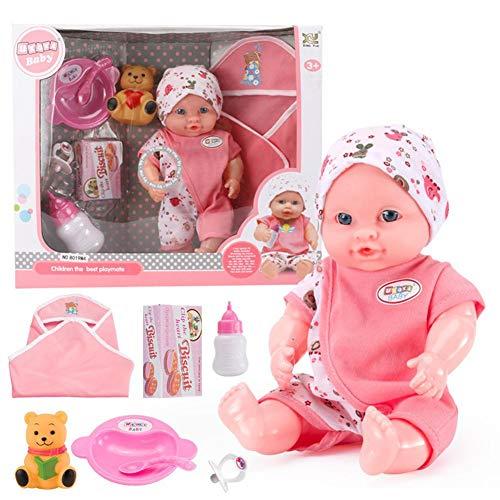 Puppe Reborn Babys Puppe Süße Babypuppe Trinken Sie Wasser pinkeln sprechen Puzzle frühen pädagogisches Spielzeug puppen für kinder ab 3 jahre (Puzzle Sprechen)