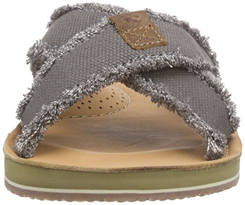 O'Neill Axed Raffled Canvas, Sandales  Bout ouvert homme Grau (K56 Charcoal)