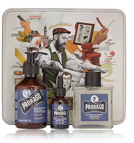 Proraso Beard Kit Azur Lime - 3-teiliges Bartpflege Set