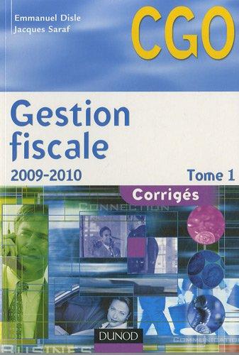 Gestion fiscale Processus 3 : Corrigés Tome 1