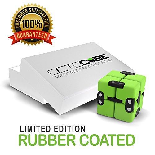 OCTOCUBE Infinito de lujo Fidget cubo - infinito rompecabezas 3D Premium | Alivio del estrés, la ansiedad, reducción de la presión - Revestimiento de goma