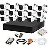 CP PLUS 1080p HD 16 Channel HD DVR,Outdoor Camera 2.4 MP, 2 TB Hard Disk, Full Combo Set