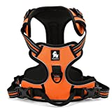 Pettom Adjustable Soft Padded No Pull Pet Dog Harness with Heavy Duty Handle for Dog Training or Walking - Big Dogs Assistance Chest from 43-81cm Vary