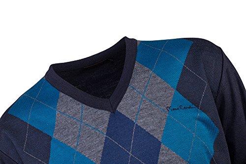 Pierre Cardin Mens Neue Saison V-Neck Pullover gestrickt Argyle Mittel