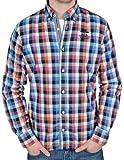 NZA New Zealand Auckland Shirt L/S 14AN506 Hemd Herren raspberry/blue L
