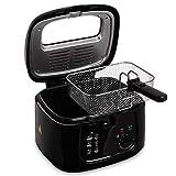LIVIVO Electric 2.5L Deep Fat Countertop Fryer Non-Stick Coating, Internal Mesh Basket