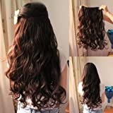 Best Extensions For Hairs - Pema Natural Brown Clip In Wavy/Curly Hair Extension Review