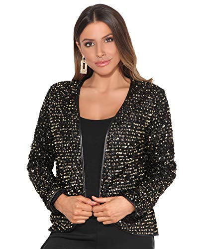 KRISP -  Coprispalle - A Pois - Manica a 3/4 - Opaco - Donna Gold [Full Sleeve] S
