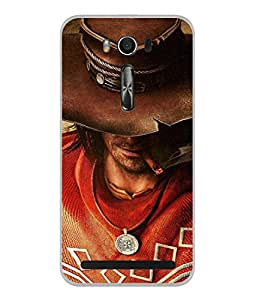 Fuson Designer Back Case Cover for Asus Zenfone 2 Laser ZE550KL (5.5 Inches) (Hollywood Movie Cigar Attitude Locke Men Boys)