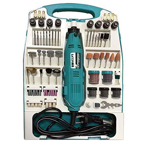 LeMeiZhiJia 226tlg Mini-Winkelschleifer Satz Multifunktionswerkzeug Schleifermachine mit Zubehör für Heimwerker und Handgefertigt